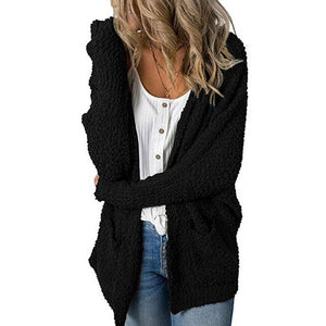 V-Neck Loose Cardigan w/Double Pockets Sweater
