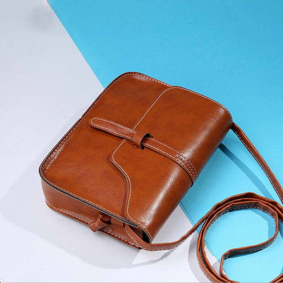 Vintage Shoulder Messenger Bag  Artificial Leather