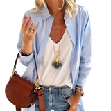 Long Sleeve Solid Loose Blouse