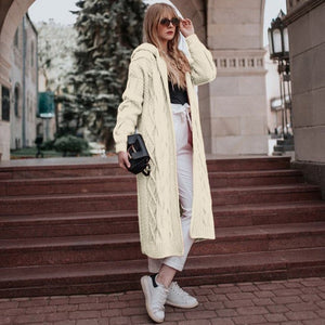 Long Sleeve Hooded Cardigan Sweater