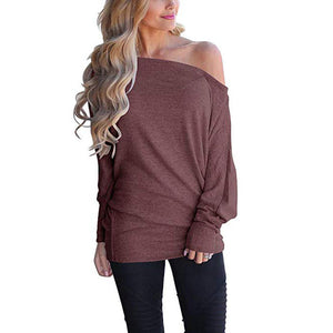 Long Sleeve Batwing Sleeve Pullover Sweater
