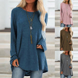 Long Sleeve O-Neck Pullover Sweater - Plus Size Available