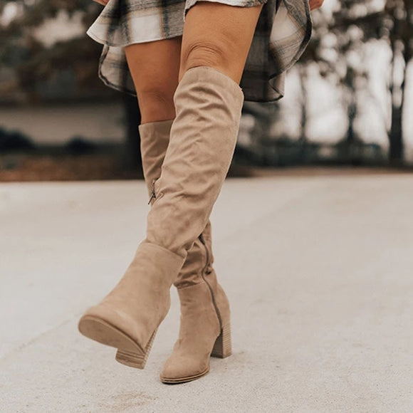 PUIMENTIUA Knee-High Boots Boots