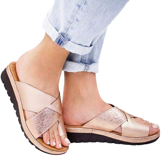 Orthopedic Bunion Corrector PU Leather Sandal