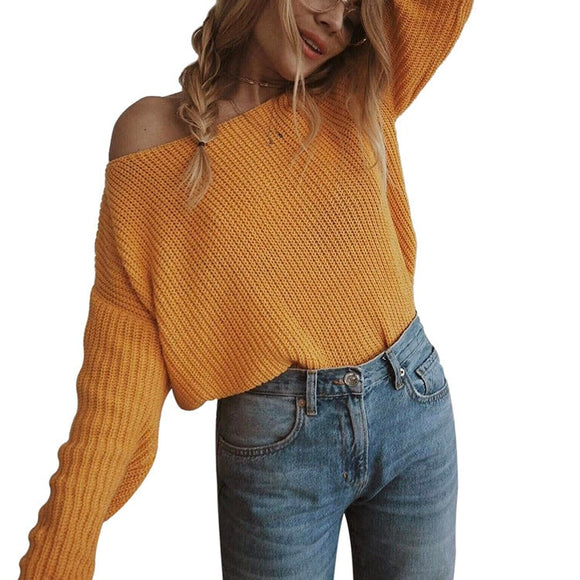Batwing Sleeve O-Neck Sweater
