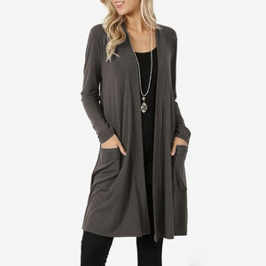 Long Sleeve Cardigan Sweater - Plus Size Available