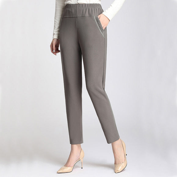 High Waist Loose Harem Pants - Plus Size Available