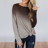 Long Sleeve O Neck Blouse