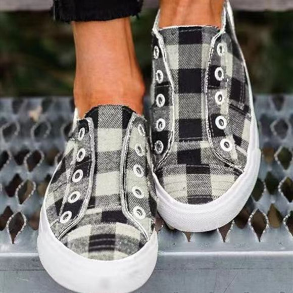 Buffalo Plaid Canvas Shoes