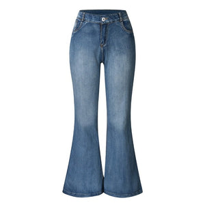Bellbottoms Denim Stretchy Jeans - Plus Size Available