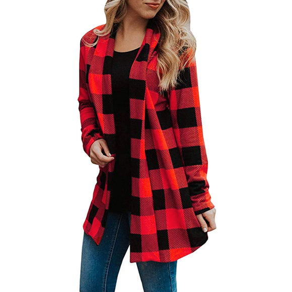 Long Sleeve Buffalo Plaid Jacket