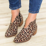 Ankle Boots Square Low Heel