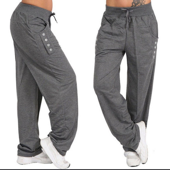 High Waist Loose Trousers - Plus Size Available