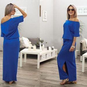 Free Ostrich Long Maxi Boho Party Dress With Pocket