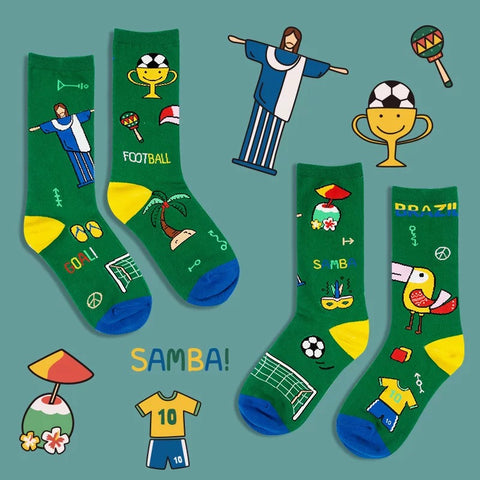 National Series Socks - Brazil