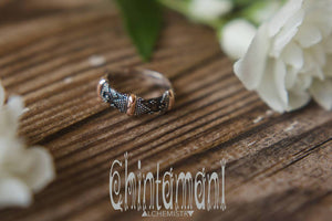 Chintamani Tribal Ring of Sterling Silver 925 & 20K Gold / Mixed Metal Textured Ring / HUAYRURO - ChintamaniAlchemi