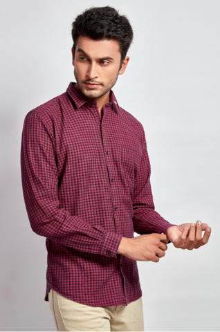 Red & Black Checks Shirt - Signature Store