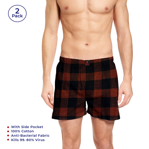 Red  & Blue Checks Men's Boxers - Signature Store