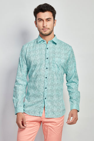 Light Blue Print Shirt - Signature Store