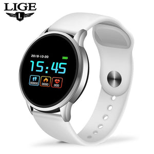 LIGE New Smart Bracelet Women Heart Rate Blood Pressure Monitor Sport Smart Wristband Pedometer fitness tracker Smart Watch Men