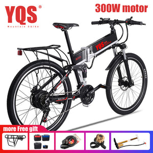 "YQS Electric Bike  500W 110KM 21Speed 40km/h battery ebike electric 26"" Off road electric bicycle bicicleta"