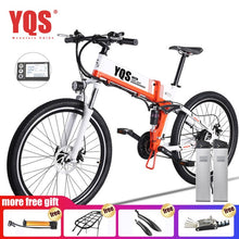 "Load image into Gallery viewer, YQS Electric Bike  500W 110KM 21Speed 40km/h battery ebike electric 26"" Off road electric bicycle bicicleta"