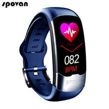 Load image into Gallery viewer, Spovan Smart Band ECG PPG HRV Cardio Monitor Bracelet Pedometer Blood Pressure Sport Activity Tracker Smart Wristband Men Women