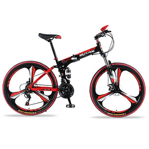 "wolf's fang Bicycle Mountain Bike 21 speed 26""inch Folding bike Road bike Double disc brakes folding  mtb Fat Snow beach bicycle"