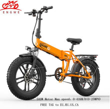 Load image into Gallery viewer, Electric bike 20*4.0inch Fat Tire Aluminum Foldable electric Bicycle 48V12A 500W Powerful bike 7speed Mountain/Snow/Beach ebike