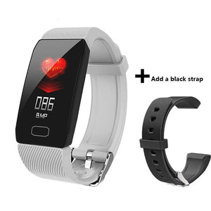 Men Fitness Smart Band Blood Pressure Heart Rate Monitor Bracelet Waterproof Sport Pedometer Smart Wristband Q1 For Android iOS