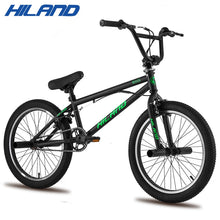 Load image into Gallery viewer, HILAND 10 Color&Series 20'' BMX Bike Freestyle Steel Bicycle Bike Double Caliper Brake Show Bike Stunt Acrobatic Bike