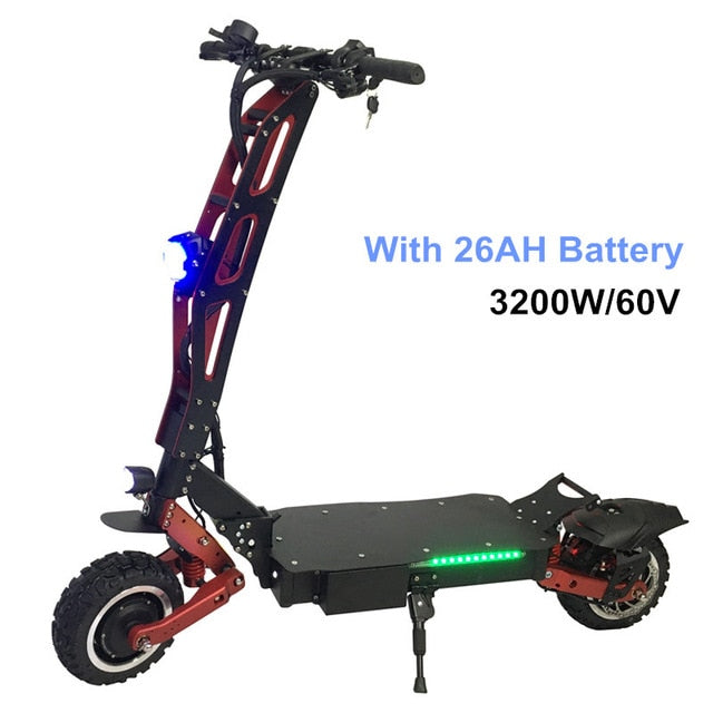 FLJ Newest Design Foldable Electric Scooter for Adults with 3200W motor wheel electric scooter off road fat tire kick Scooter
