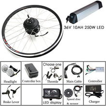 "Load image into Gallery viewer, Free Shipping 36V/48V 250W/350W/500W Electric Bike Kit for Mountain Bike 20'' 26"" 700C Hub Motor Electric Motor LED for Bicycle"