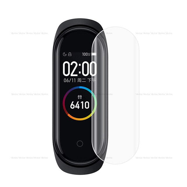 3/5Pcs Transparent Full Cover Clear Screen Protection Film For Xiaomi Mi Band 4 Smart Bracelet Wearable Accessories Not Glass