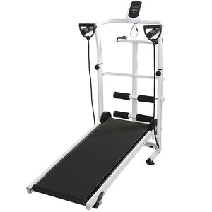 Indoor Treadmill Folding Running Training Twisting Machine Sit-ups Multi-function Fitness Equipment Treadmill With Belt HWC