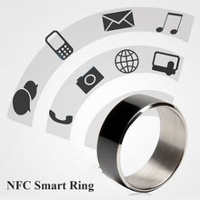 Load image into Gallery viewer, Free Shipping NFC Smart Ring Massage Tag Share Dark Black Multi-functional finger wearable device magic accessory
