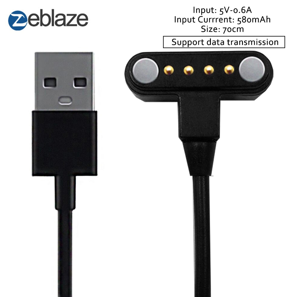 USB Power Magnetic Port Smartwatch Charger 70cm Zeblaze THOR 4 & THOR 4 Plus Smart Watch Charging Cable Wearable Accessories
