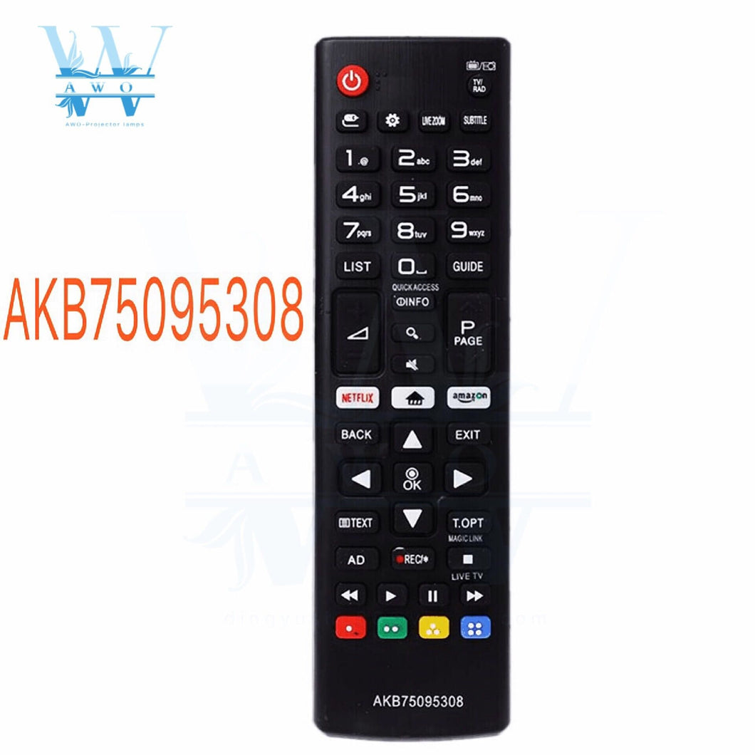 AWO NEW Universal Remote Control AKB75095308 for LG TV 43UJ6309 49UJ6309 60UJ6309 65UJ6309 Smart Remote Controller