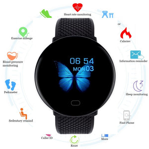 Abay 2019 Men Smartwatch Sport Pedometer Smart Watch Fitness Tracker Heart Rate Monitor Women Clock for iphone Android IOS