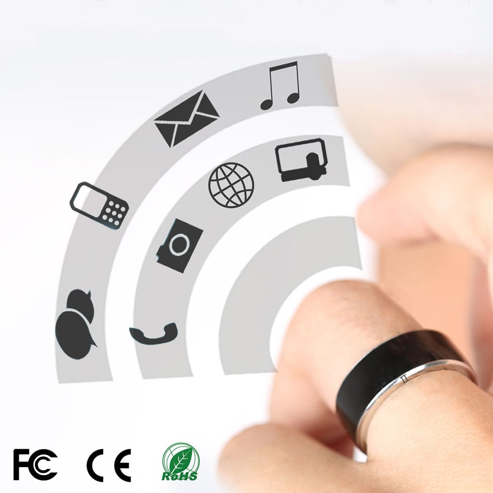 Jakcom R3F Wearable Devices NFC Smart Ring Anillos White Black Wear for Samsung Xiaomi Sony LG IOS Android Window NFC Phone