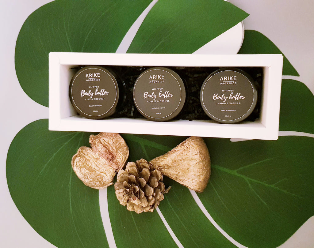 3 in 1 body butter gift box - Arike organics