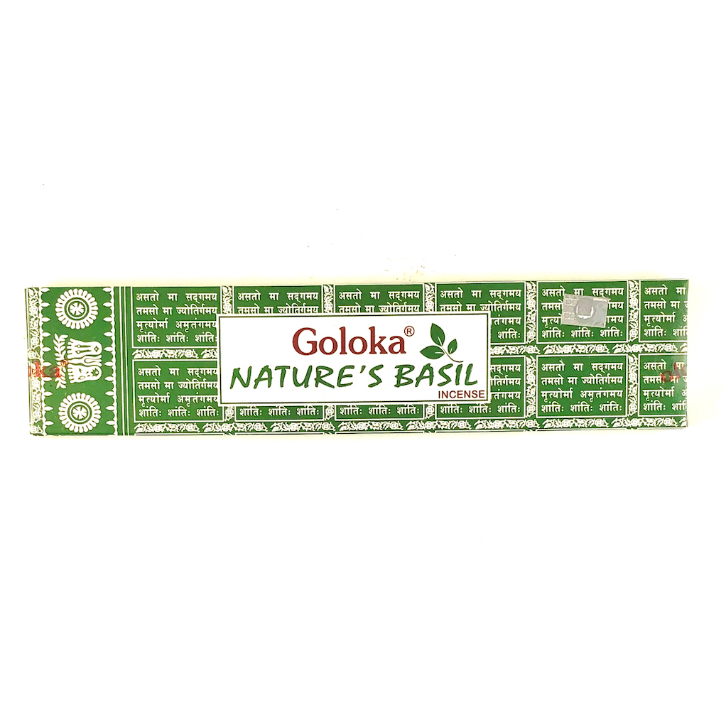 Goloka Nature's Basil incenses