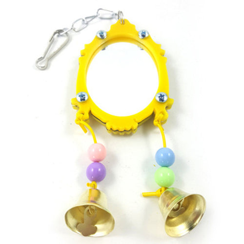 Mirror and Bell Parrot Bird Toy