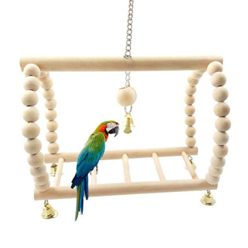 Wood Parrot Perch and Chew Toy