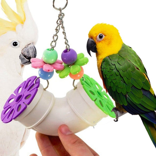 Hanging Flower Parrot Toy