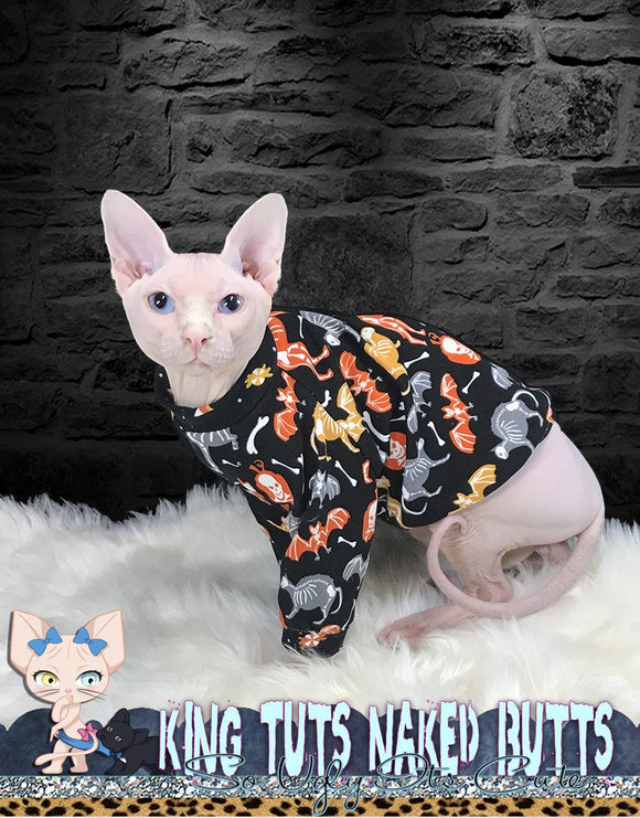 sphynx cat kitten clothes handmade sweaters by KingTutsNakedButts