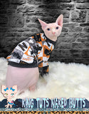 Sphynx Cat Glow In The Dark Long Sleeve Shirt Clothes Handmade Halloween Fall by KingTutsNakedButts