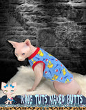 Sphynx Cat Shirt Tank Top Clothes Handmade Pok-Mon Pick-achu by KingTutsNakedButts