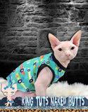 Sphynx Cat Shirt Tank Top Clothes Handmade Race Cars by KingTutsNakedButts