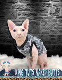 Sphynx Cat Shirt Tank Top Clothes Handmade Comic Theme by KingTutsNakedButts